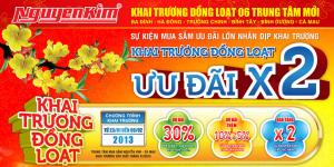 Mẫu tờ rơi khai trương trung tâm mua sắm Nguyễn Kim