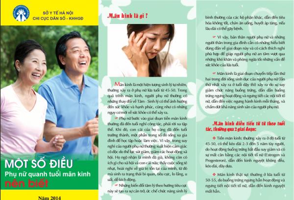 Mẫu tờ rơi tuyên truyền về sức khỏe cho phụ nữ tuổi mãn kinh