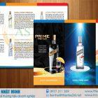 Thiết kế và in tờ rơi rượu Công ty cổ phần Xuất Nhập Khẩu An Sinh – Vodka Prime