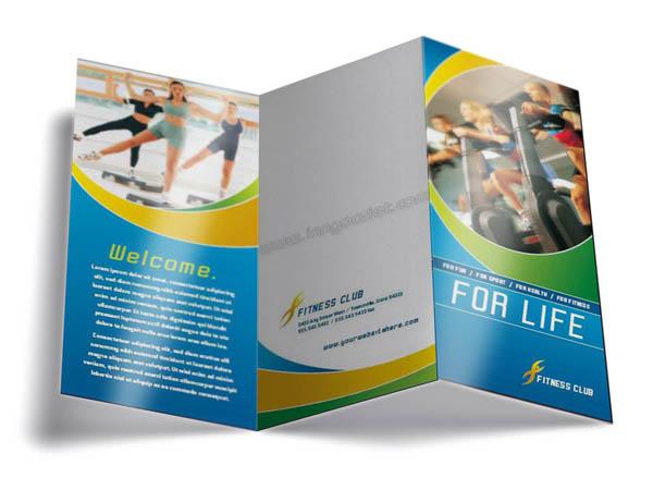 Mẫu in tờ rơi giá rẻ quảng cáo dịch vụ tập thể hình cho phòng gym