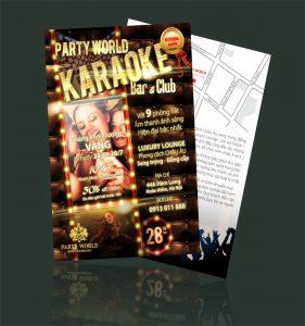 Mẫu thiết kế và in tờ rơi karaoke đẹp