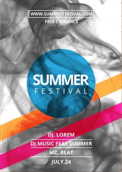 Mẫu thiết kế tờ rơi quảng cáo festival Lễ hội mùa hè - in tờ rơi quảng cáo giá rẻ tại HN