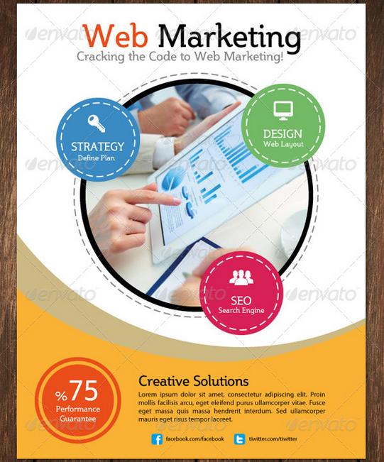 Mẫu in tờ rơi quảng cáo công ty thiết kế và lập trình Website. In tờ rơi giá rẻ tại Hà Nội