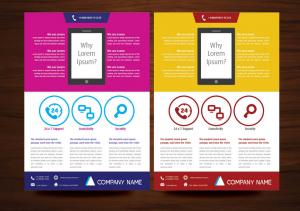 Mẫu thiết kế tờ rơi quảng cáo cho App trên điện thoại Smartphone