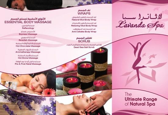 Mẫu tờ rơi Spa quảng cáo dòng sản phẩm tinh dầu massge Lavender