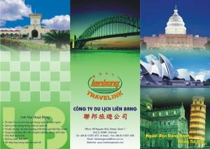 Mẫu thiết kế và in tờ rơi quảng cáo du lịch giá rẻ của công ty du lịch Liên bang