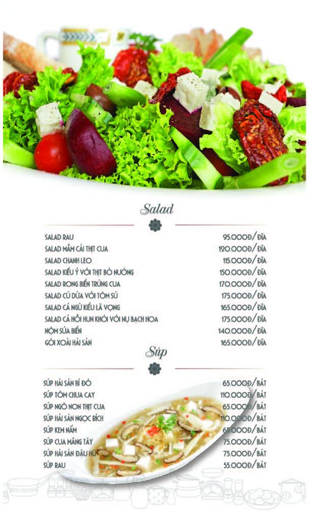 Màu sắc tươi sáng ngon mắt khi thiết kế menu nhà hàng