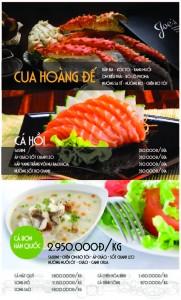 Mẫu tờ rơi màu quảng cáo các món ăn đặc biệt của nhà hàng. Lựa chọn màu sắc, hình ảnh đẹp tạo cảm giác thèm ăn. Đây cũng có thể lấy làm menu nhà hàng
