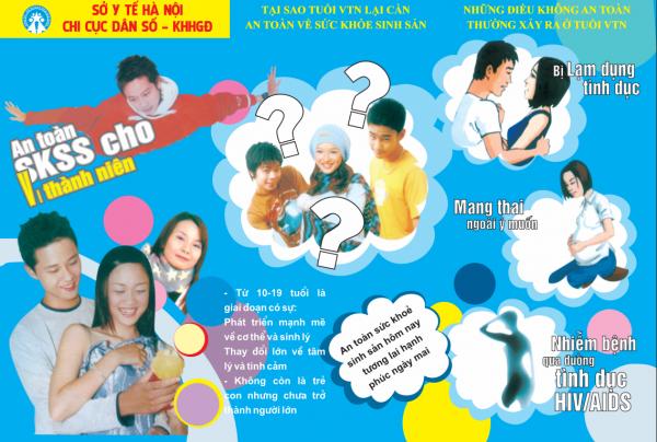 Mẫu tờ rơi tuyên truyền về an toàn sức khỏe sinh sản cho trẻ vị thành niên