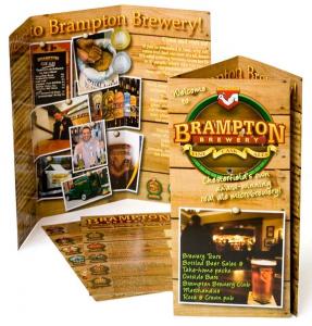 Mẫu tờ rơi quảng cáo nhà hàng bia và các món ăn ngon - in tờ rơi nhanh giá rẻ tại Hoàng Quốc Việt Hà Nội