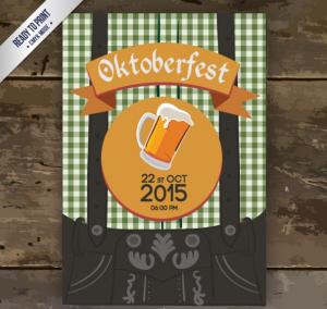 Mẫu in tờ rơi quảng cáo bia với background được cách điệu từ phần bụng và thắt lưng quần của những vị cao bồi miền Tây, mảnh đất ưa chuộng văn hóa uống bia