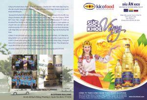 Mặt trước của mẫu tờ rơi quảng cáo dầu ăn Kico