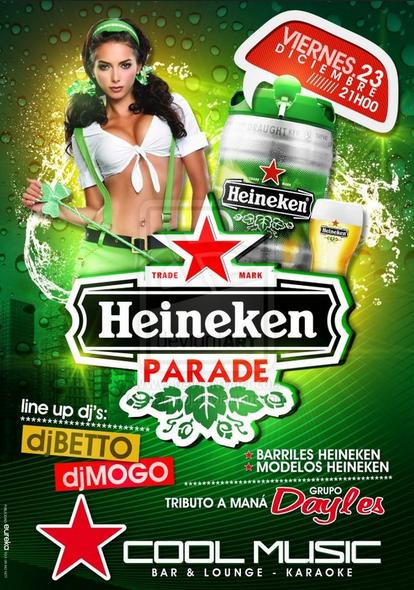 Mẫu tờ rơi quảng cáo sản phẩm bia Heineken - Heineken party
