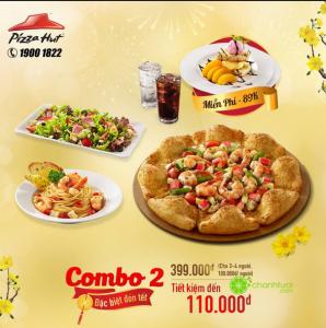 Mẫu thiết kế tờ rơi quảng cáo combo Pizza giá rẻ của Pizza Hut tại Việt Nam