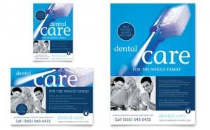 Mẫu thiết kế và in tờ rơi quảng cáo nha khoa Dental Care - in tờ rơi giá rẻ tại Cầu Diễn, Hà Nội