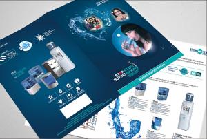 Mẫu tờ rơi quảng cáo sản phẩm máy lọc nước cho công ty chuyên sản xuất và phân phối máy lọc nước. In tờ rơi giá rẻ tại Hà Nội