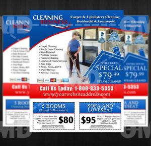 Mẫu tờ rơi marketing cho doanh nghiệp, quảng cáo dịch vụ dọn nhà theo giờ