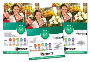 In tờ rơi giá rẻ quảng cáo dịch vụ bán hoa tươi, tặng hoa theo yêu cầu