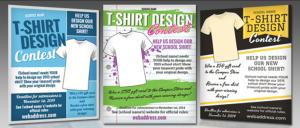 Mẫu in tờ rơi giá rẻ quảng cáo dịch vụ thiết kế áo phông và in áo cho gia đình, cặp đôi
