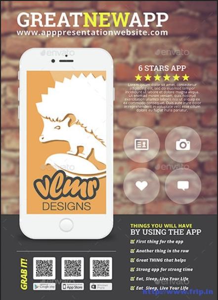 Mẫu thiết kế tờ rơi quảng cáo cho App điện thoại