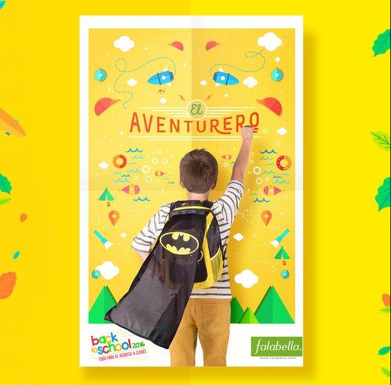 Lại là một mẫu tờ rơi quảng cáo balo khá nghịch ngợm dành cho những cậu bé thích các câu chuyện phiêu lưu thần thoại và muốn trở thành siêu nhân, anh hùng