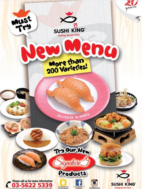 Mẫu tờ rơi quảng cáo thực đơn mới của nhà hàng shushi Nhật Bản với đầy đủ hình ảnh các món ăn tỉnh xảo. Nhìn thôi đã thấy ngon miệng rồi.