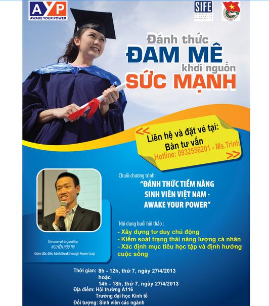 Mẫu tờ rơi tuyển dụng thiết kế theo phong cách giáo dục với màu xanh vững chắc thích hợp với đối tượng hướng tới của mẫu tờ rơi là cộng đồng sinh viên Việt Nam